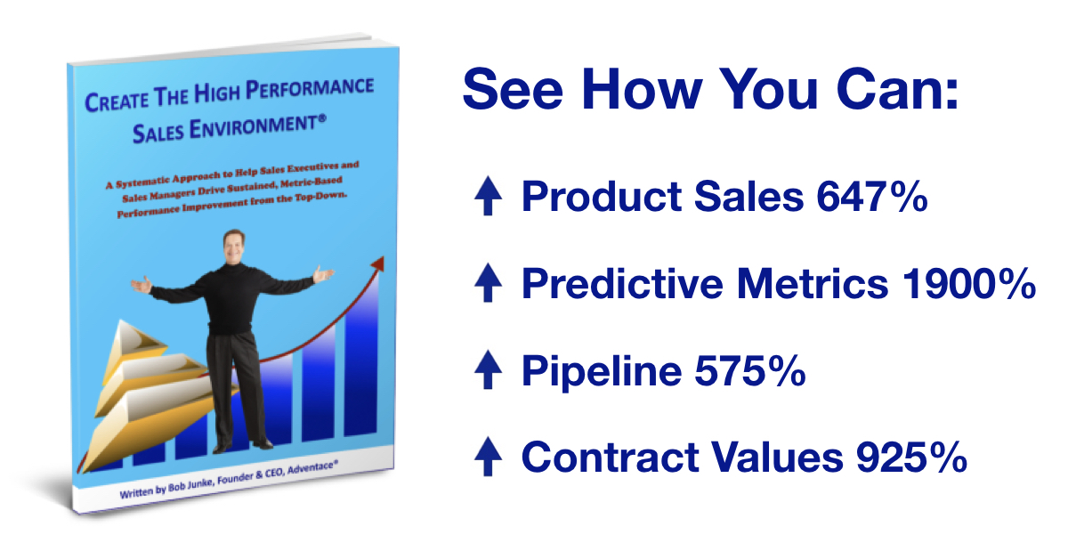 Our clients have achieved 647% increases in product sales & 1900% improvements in predictive metrics. See how with our best-selling sales management book.