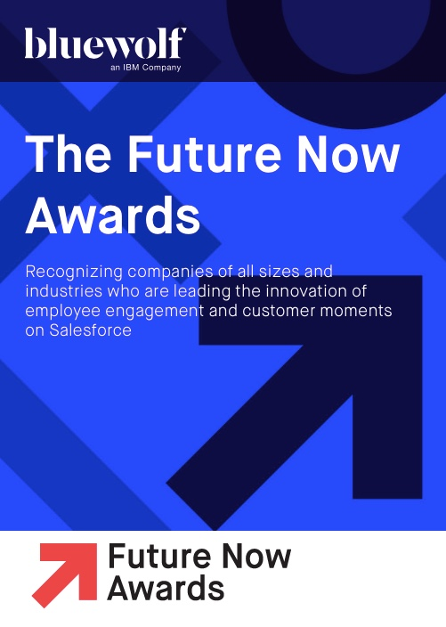 Adventace SMS has been nominated for Bluewolf's prestigious The Future Now Awards, celebrating the world's most innovative companies using Salesforce.