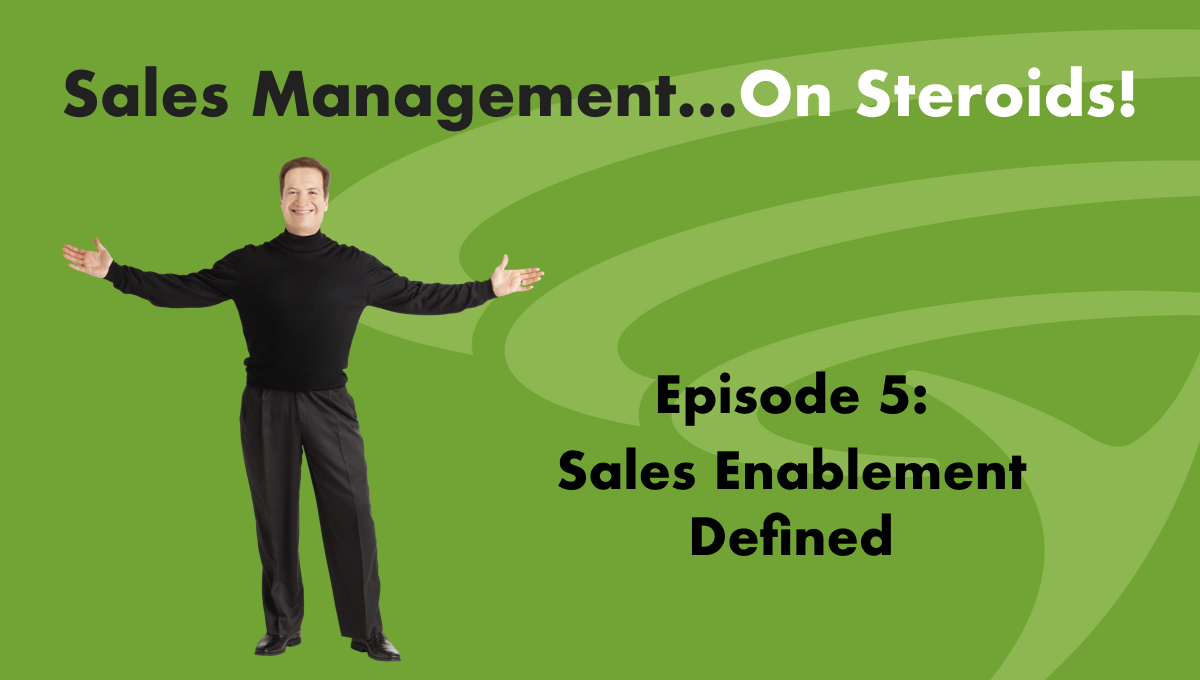 "Recently the Sales Enablement Society (""SES"") asked me to define sales enablement. I took on this task very seriously because I believe that it should serve as a beacon, identifying what we need to do to make sales enablement successful. So in this podcast I will define sales enablement and identify the six key infrastructure factors to consider, then discuss each."