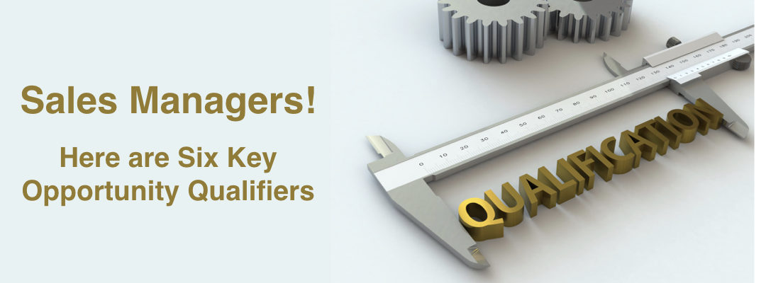 Six Key Sales Opportunity Qualifiers for Managers